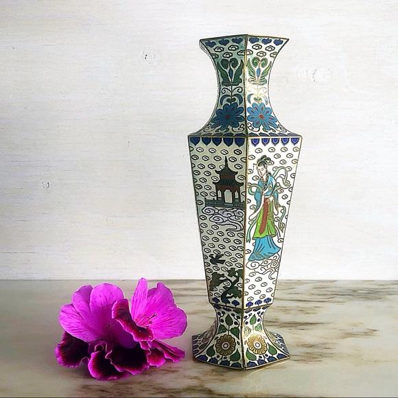 Vintage | Small Enamel Cloisonne Vase